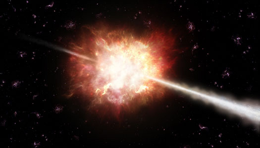 Artist's impression of a gamma-ray burst