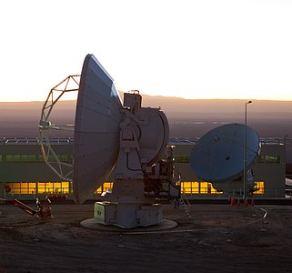 The two ALMA antennas