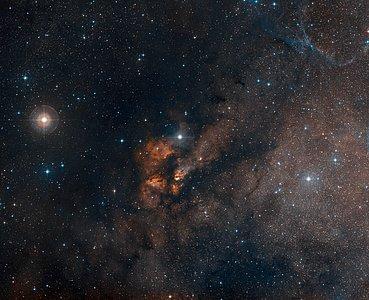Digitized Sky Survey Image Around the Stellar Cluster RCW 38