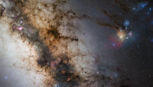 Uma paisagem estelar de 340 milhões de pixeis obtida a partir do Paranal