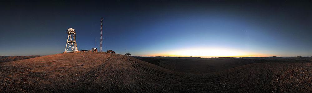 Sonnenuntergang am Cerro Armazones