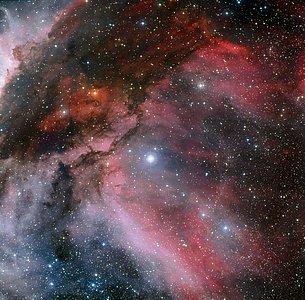 La nebulosa Carina alrededor de la estrella Wolf–Rayet WR 22