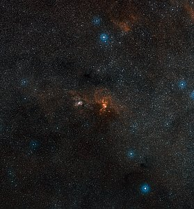 Wide-field view of the sky around NGC 3582
