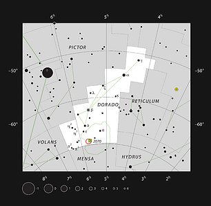 The star cluster NGC 2100 in the constellation of Dorado