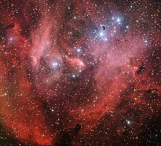 IC 2944, Nicknamed the Running Chicken Nebula