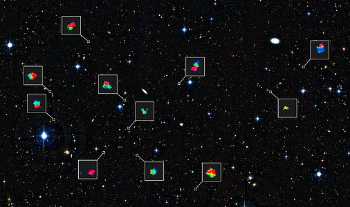 Teenage galaxies in the distant Universe and the motions of their gas