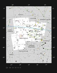 The globular star cluster Messier 55 in the constellation of Sagittarius