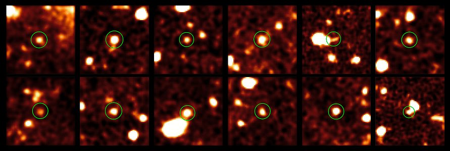Dark galaxies of the early Universe (cutouts)