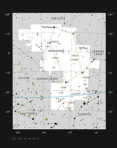 Barnard 59, a dark nebula in the constellation of Ophiuchus
