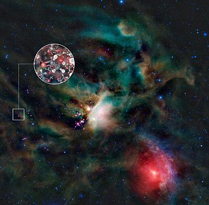 Sugar molecules in the gas surrounding a young Sun-like star