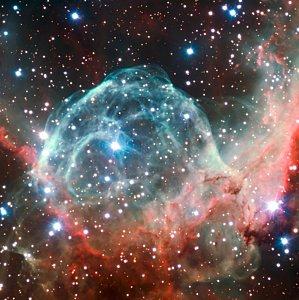 Imagem da Nebulosa do Capacete de Thor por ocasião do 50º Aniversário do ESO