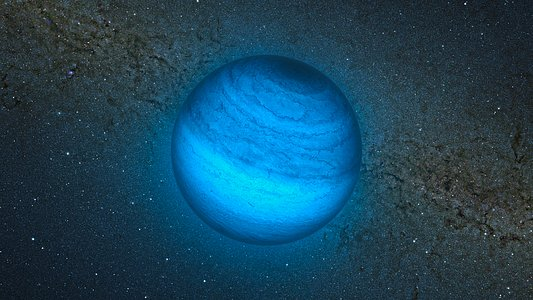 Artist's impression of the free-floating planet CFBDSIR J214947.2-040308.9