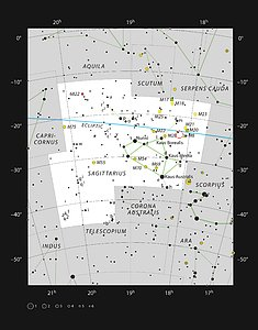 The star formation region NGC 6559 in the constellation of Sagittarius