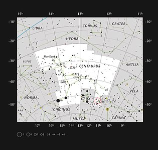 The star cluster NGC 3766 in the constellation of Centaurus