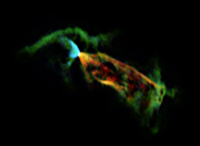ALMA's view of the outflow associated with the Herbig-Haro object HH 46/47