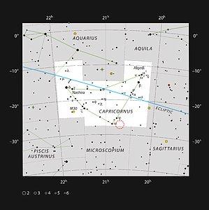 The Solar Twin HIP 102152 in the constellation of Capricornus
