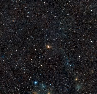 Wide field view of the area around the Toby Jug Nebula