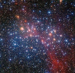 O enxame estelar colorido NGC 3532