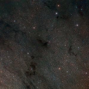 Wide-field view of the sky around the dark nebula LDN 483