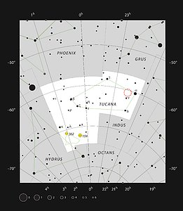 The Hubble Deep Field South in the constellation of Tucana