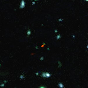 ALMA witnesses assembly of galaxy in early Universe