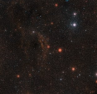 Wide-field view of the sky around VY Canis Majoris
