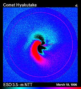 Dust Jets in Comet Hyakutake