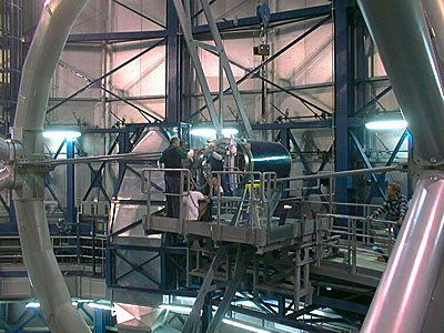 Installation of the Beryllium secondary mirror