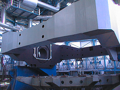 Installation of the VLT UT3 centrepiece