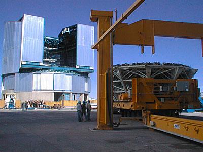 Construction work on the VLT UT4