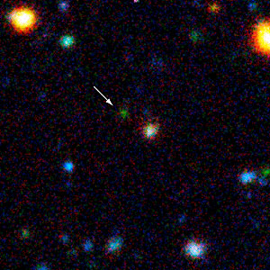 Distant Galaxy EIS 107 (z=3.92)