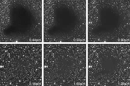 The Dark Cloud B68 at Different Wavelengths