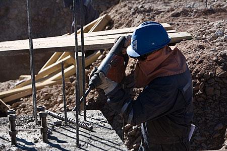 ALMA AOS construction on Chajnantor