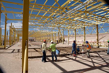 ALMA OSF construction