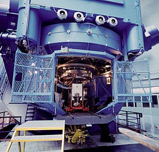 The ESO 3.6-metre telescope Cassegrain cage