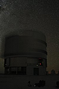 Night time view of the ESO Very Large Telescope