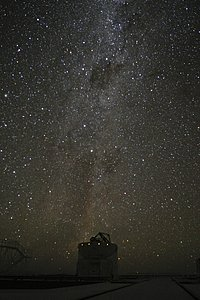 Milky Way above Paranal observatory