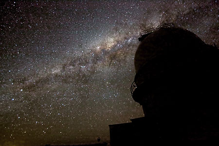 The night sky over La Silla.