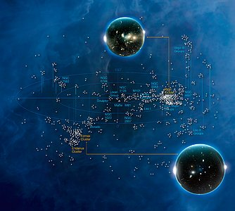 Galaxy Clusters (artist's impression)