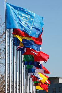 Flags at ESO Headquarters