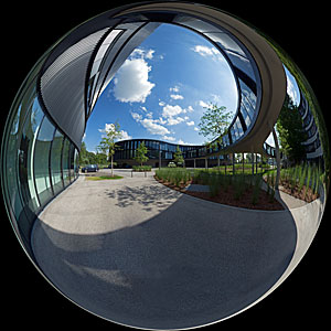 Headquarters extension in a mirror ball