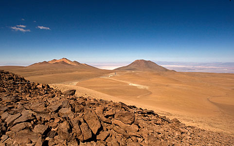 View of the Chajnantor plateau, the ALMA Array Operations Site