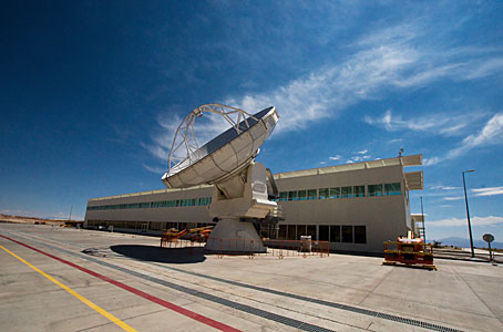 An antenna at the ALMA Operations Support Facility (OSF)