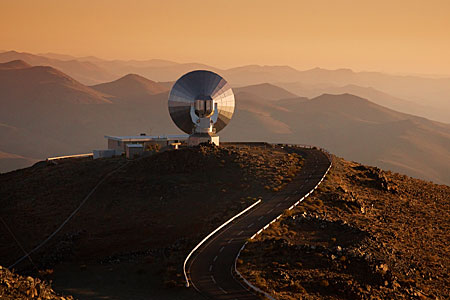SEST at La Silla at Sunset