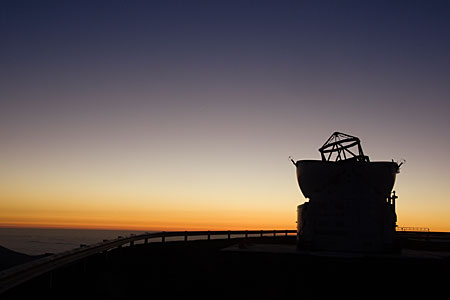 VLT Auxiliary Telescope at Paranal at Sunset