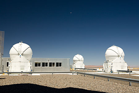 Three Auxiliary Telescopes and VLTI building