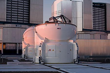 Auxiliary Telescopes on Paranal