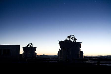 Auxillary Telescopes at sunrise