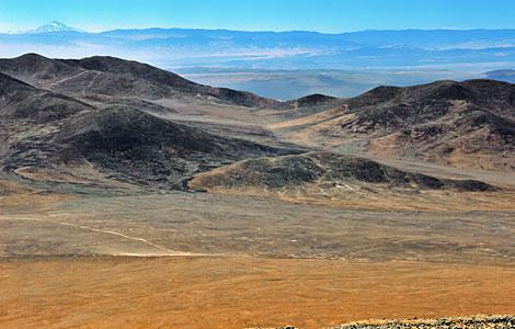 The volcano in the desert