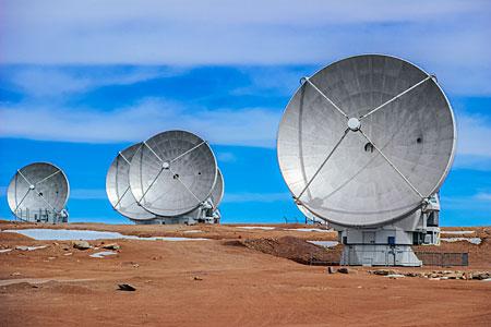 Five ALMA Antennas